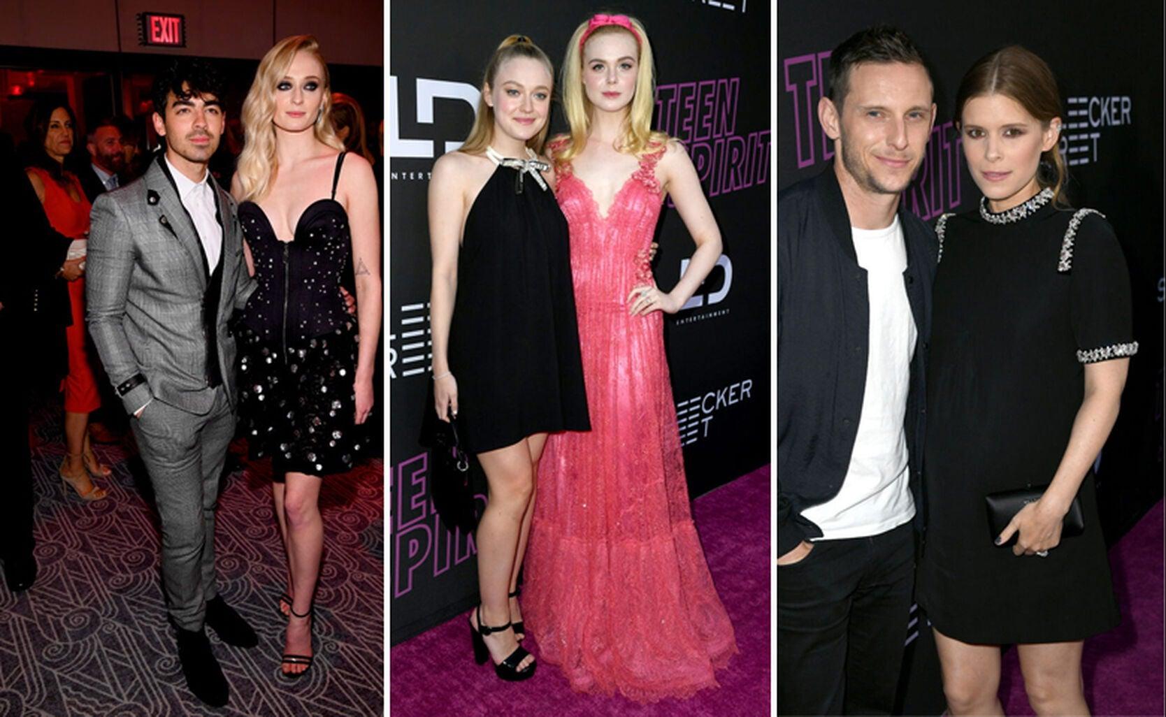 Joe Jonas with Sophie Turner, Dakota Fanning (L) with Elle Fanning, Jamie Bell with Kate Mara