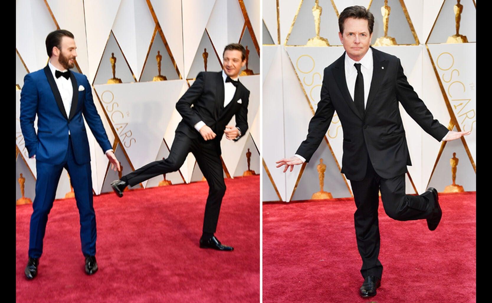 Chris Evans, Jeremy Renner and Michael J. Fox