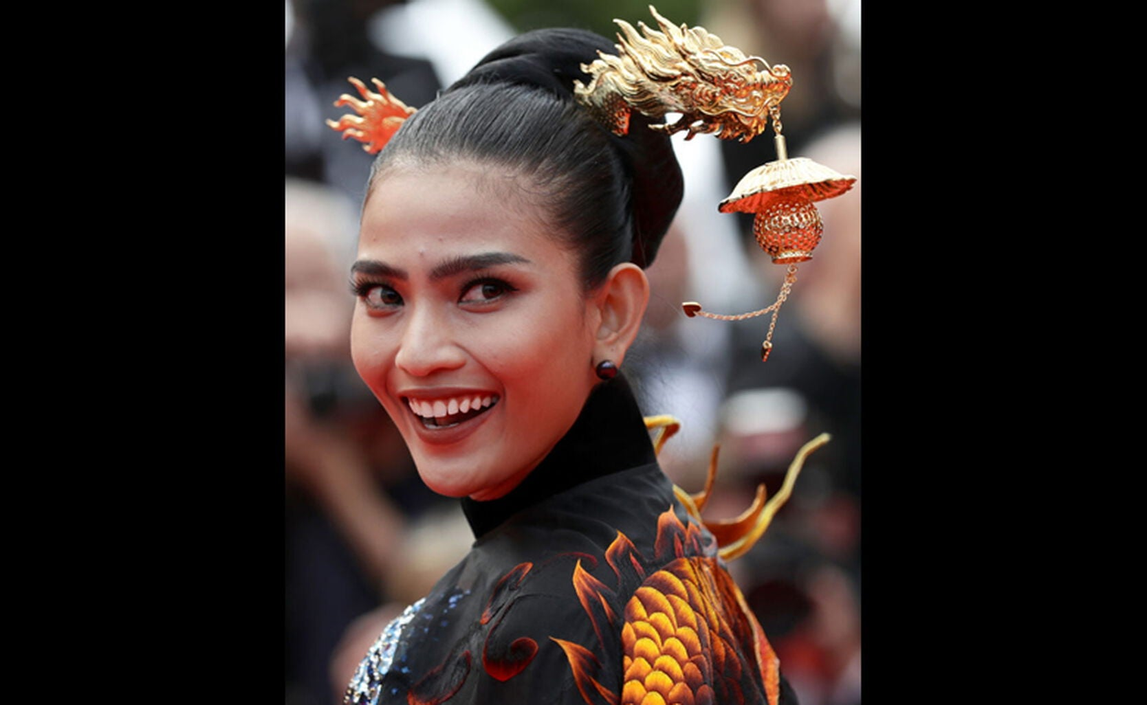 A guest at the 72nd Cannes Film Festival
