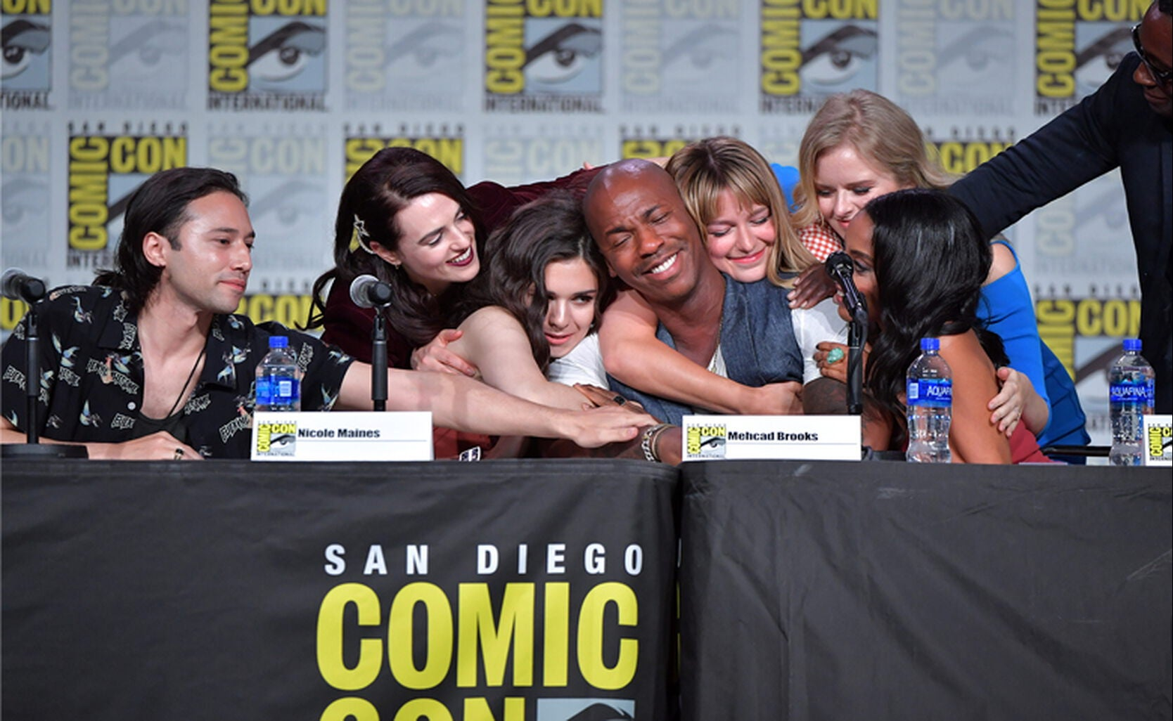 "The cast of ""Supergirl"" at Comic-Con 2019"