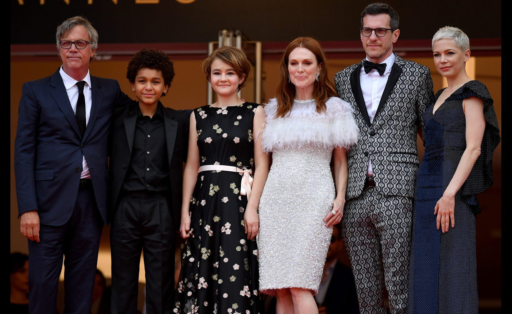 Director Todd Haynes, actor Jaden Michael, actresses Millicent Simmonds, actress Julianne Moore, screenwriter Brian Selznic and actress Michelle Williams