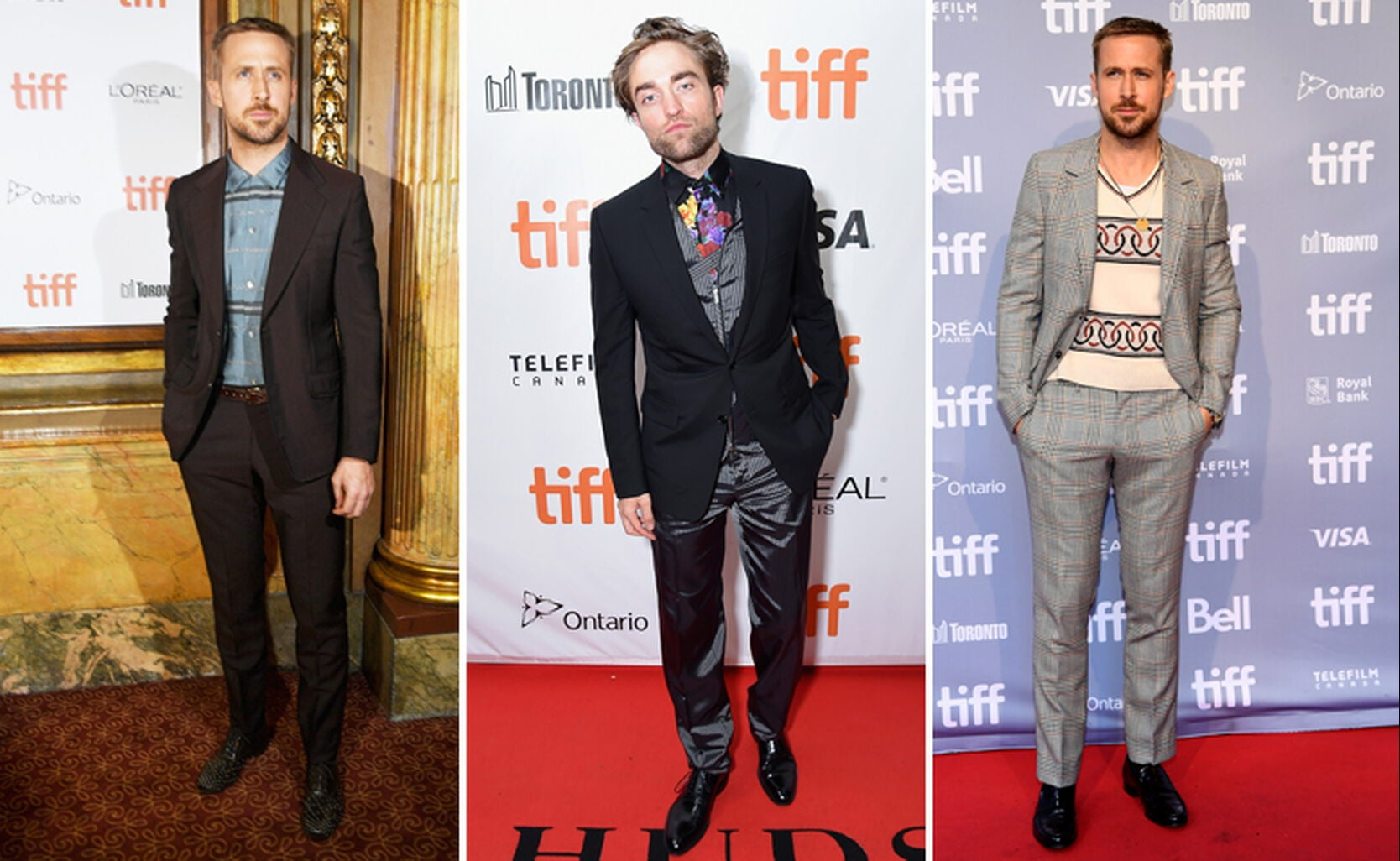 Ryan Gosling, Robert Pattinson (middle)