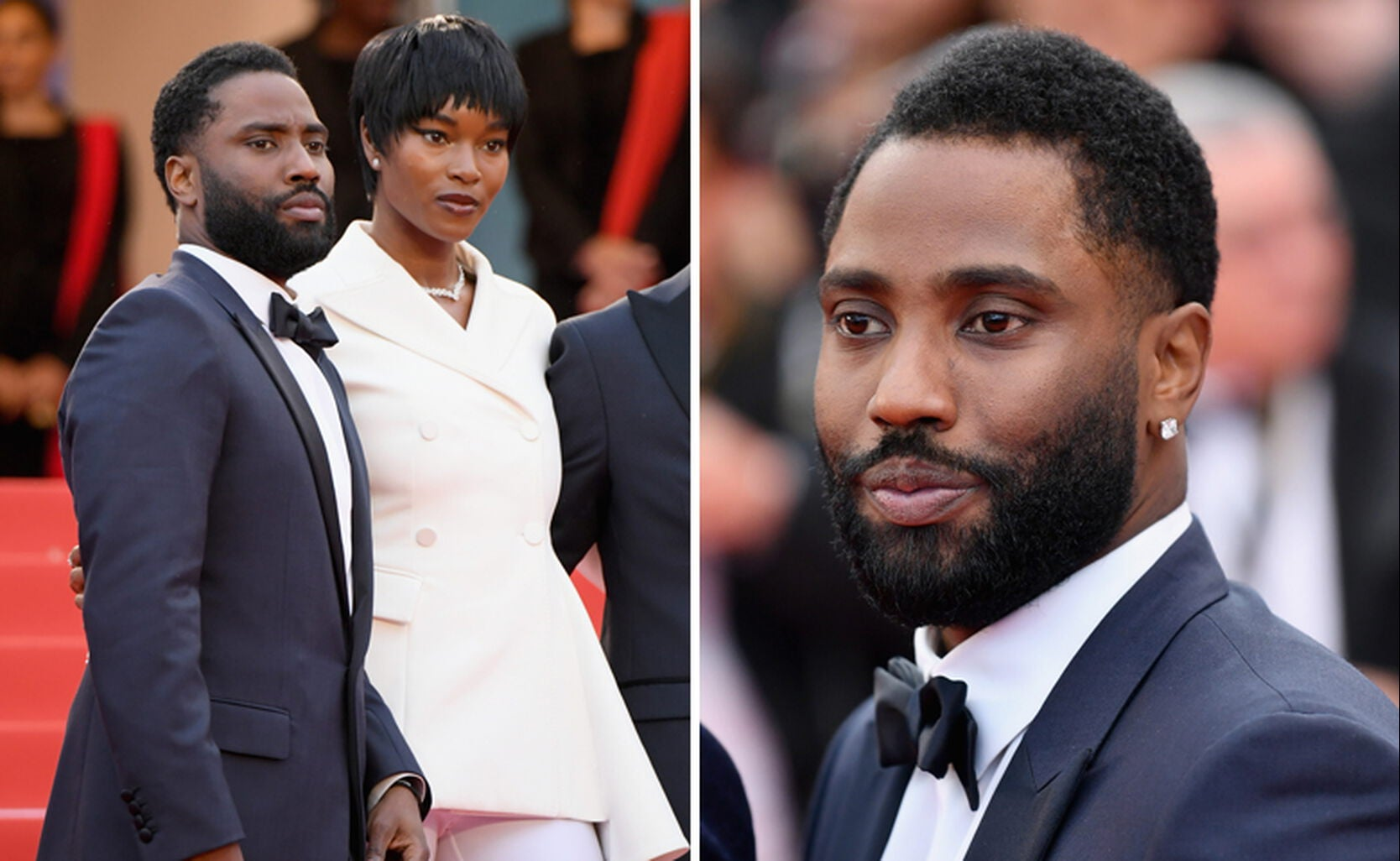 John David Washington and Damaris Lewis