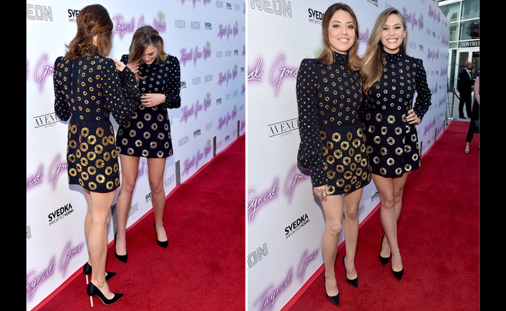 Aubrey Plaza and Elizabeth Olsen