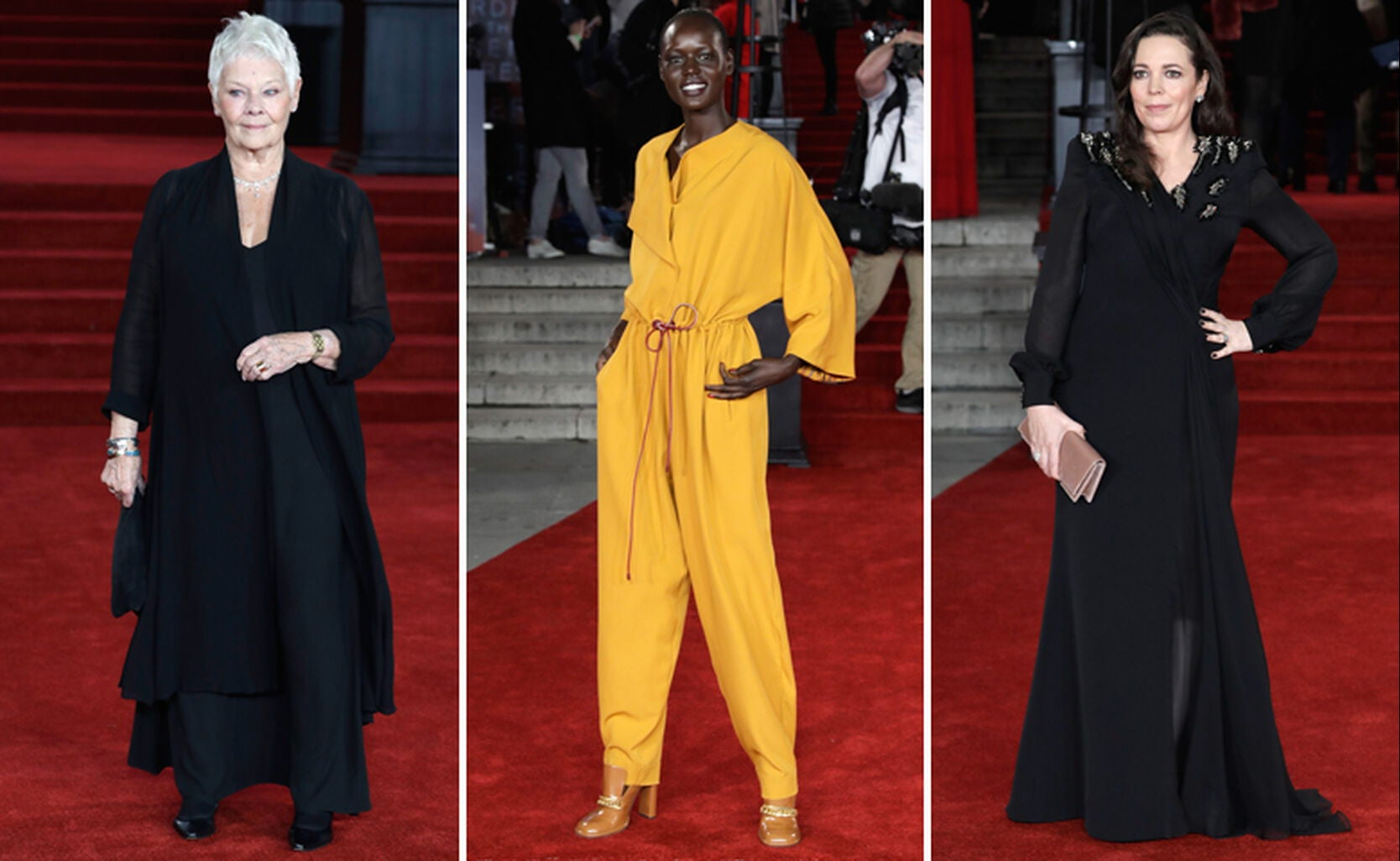 Judi Dench, Ajak Deng and Olivia Coleman