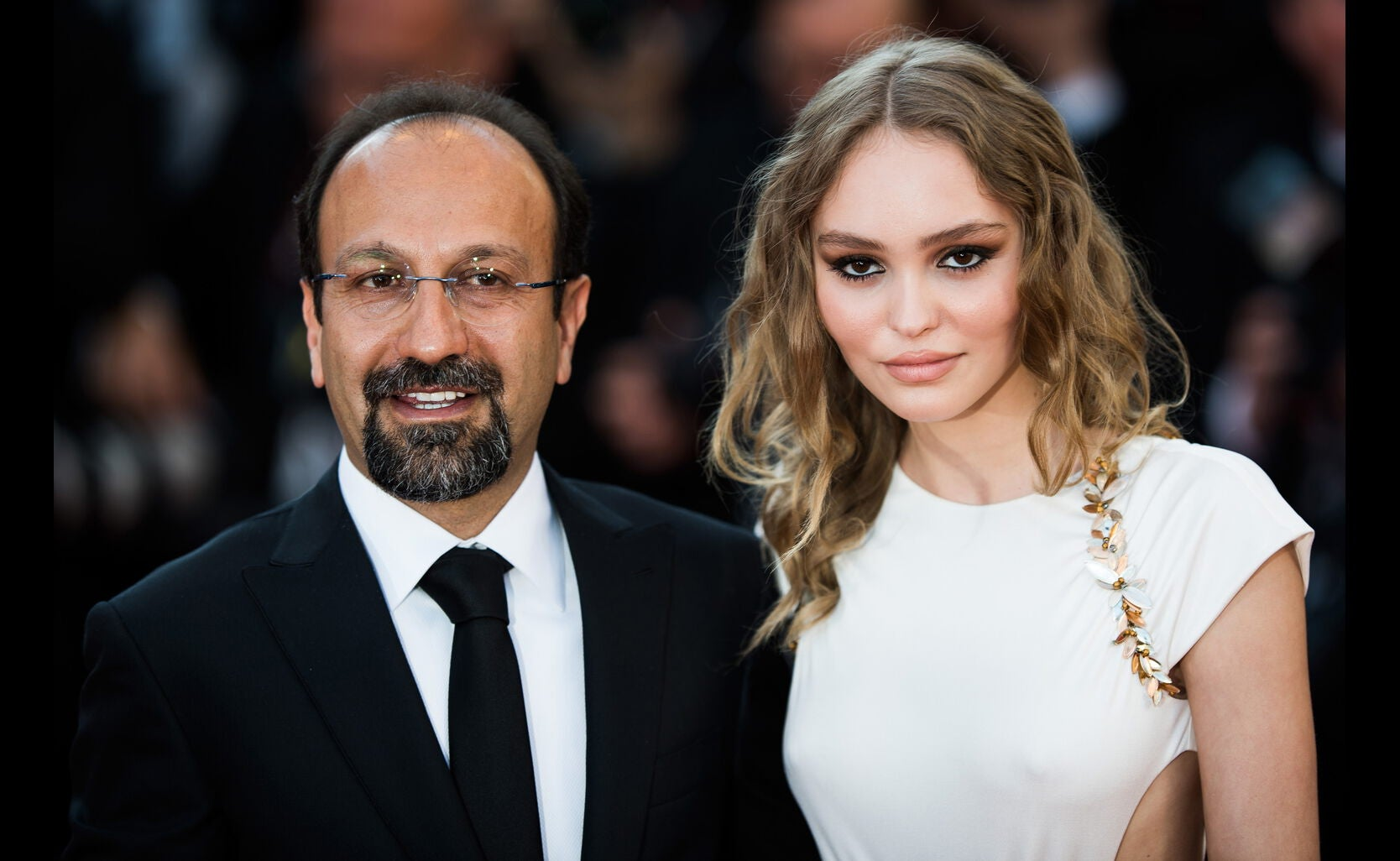 Lily-Rose Depp with Director Asghar Farhadi