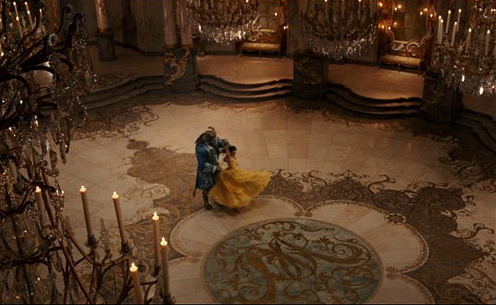 "Beast and Belle from ""Beauty and the Beast"""