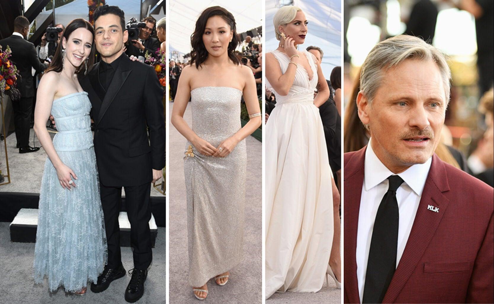 Rachel Brosnahan with Rami Malek, Constance Wu, Lady Gaga, Viggo Mortensen