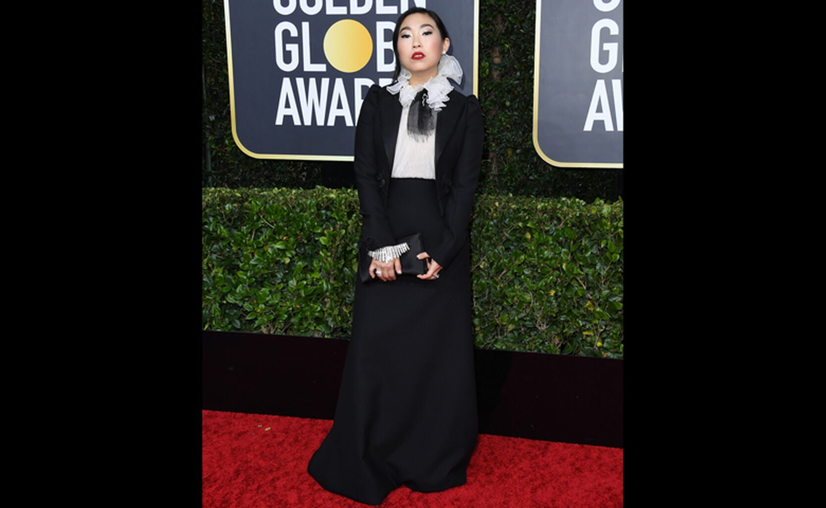 Actress musician Awkwafina at the Globes