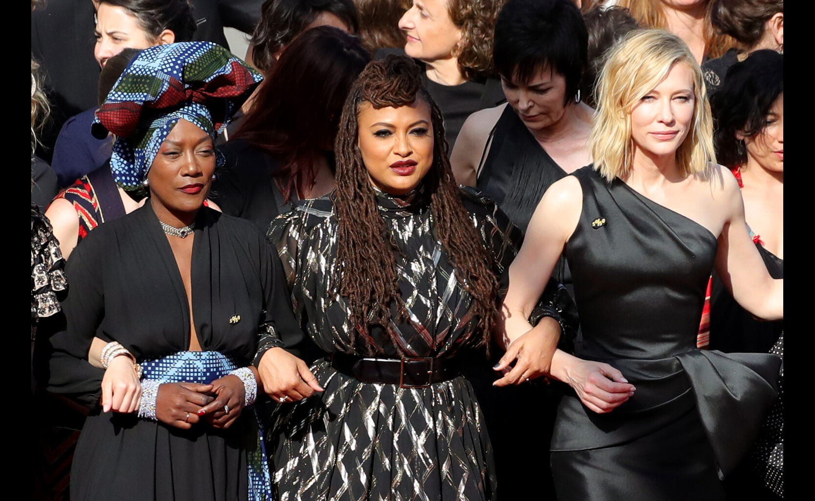 Khadja Nin, Ava DuVernay and Cate Blanchett at 71st annual Cannes Film Festival