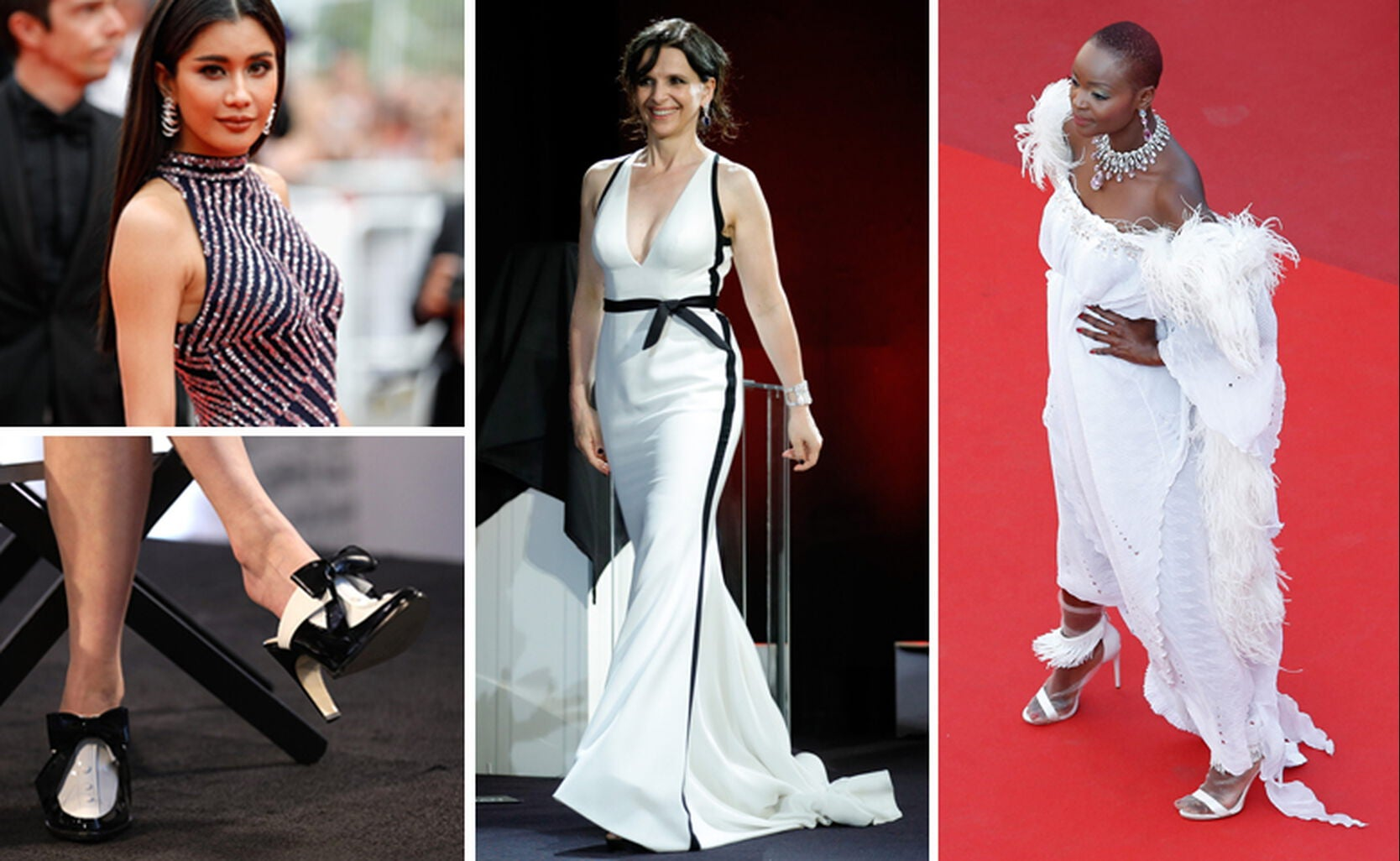 Praya Lundberg; SHOES – Natasha Lyonne; Juliette Binoche and Miriam Odemba