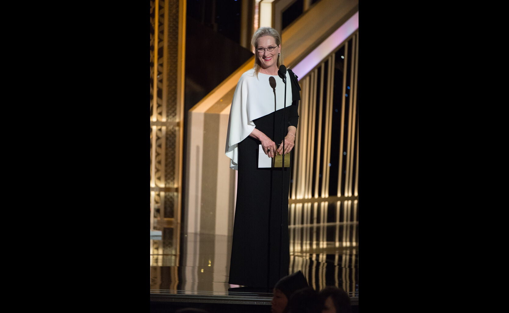 Actress Meryl Streep, Golden Globe winner, presenting in 2015