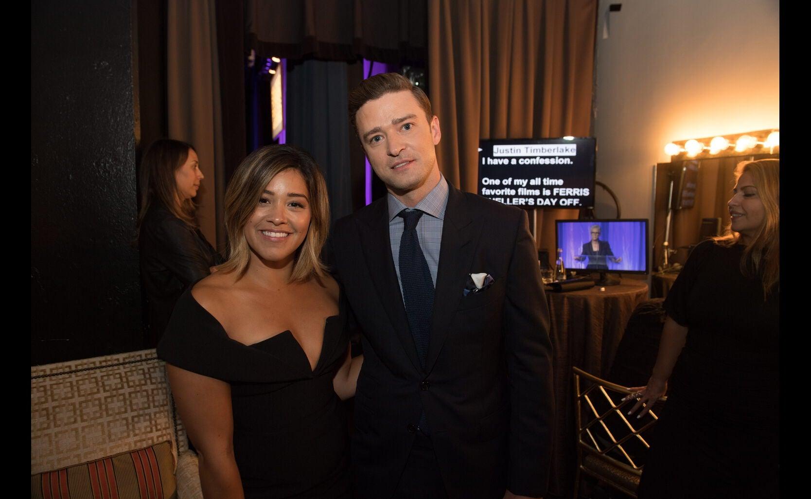 Justin Timberlake and Gina Rodriguez at the HFPA Grants Banquet 206