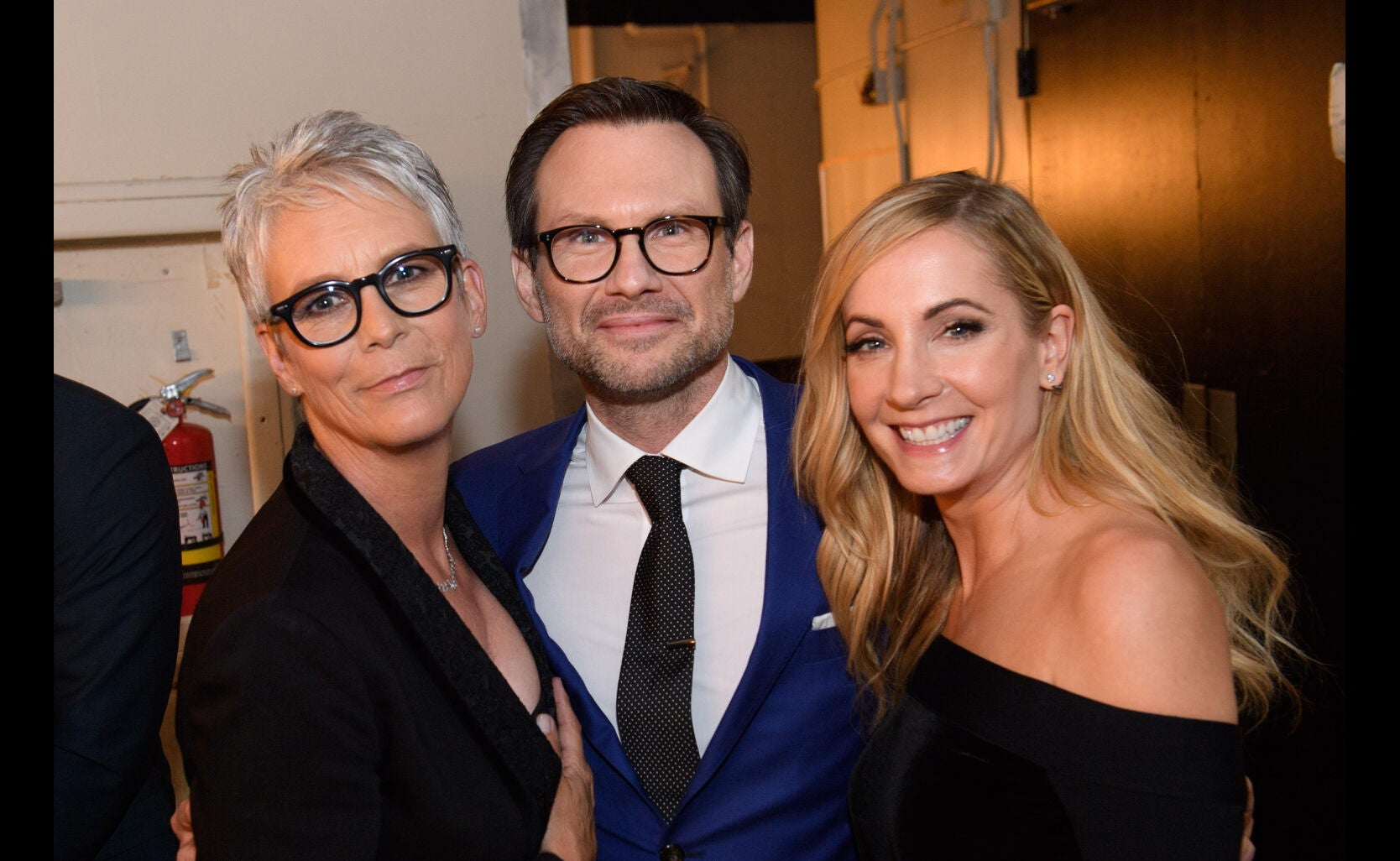 Jamie Lee Curtis, Christian Slater and Joanne Froggatt at the HFPA Grants Banquet 2016