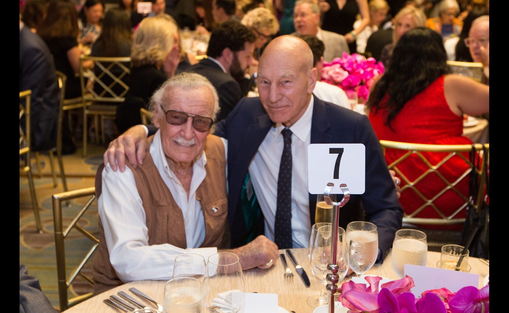 Stan Lee and Patrick Stewart
