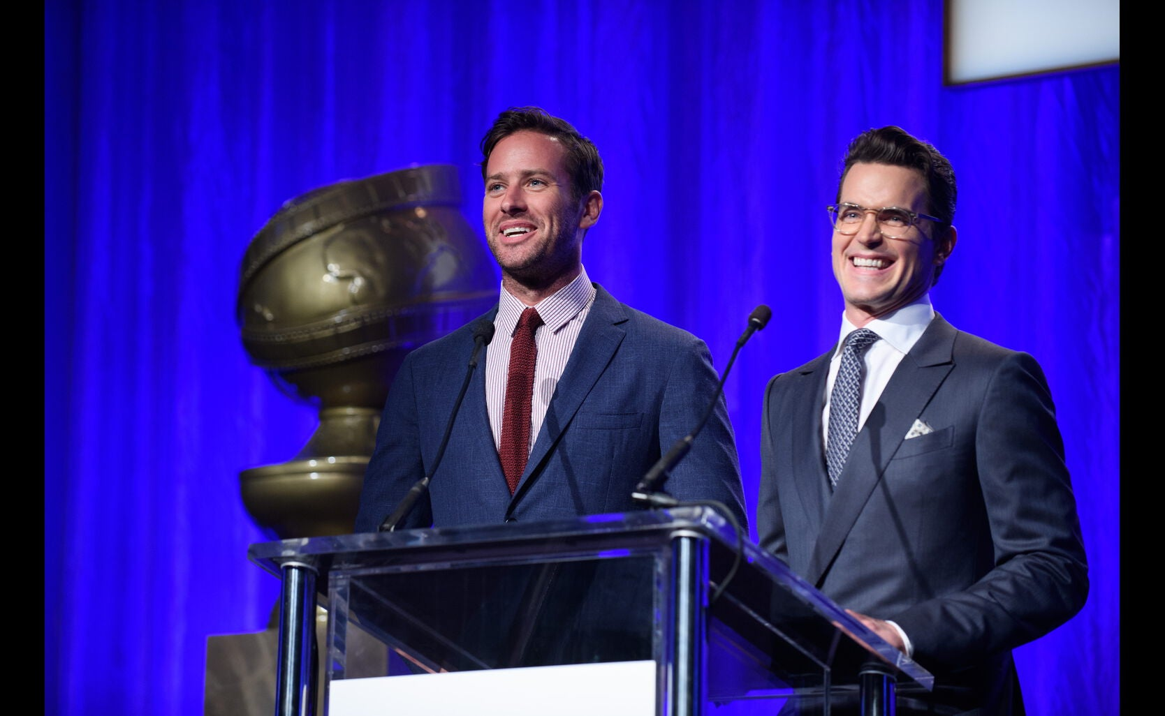 Presenters Armie Hammer and Matt Bomer