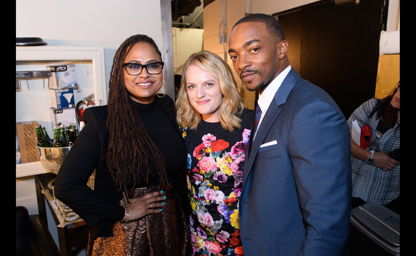 Presenterts Elsiabeth Moss, ANthony Mackie and Ava DuVernay