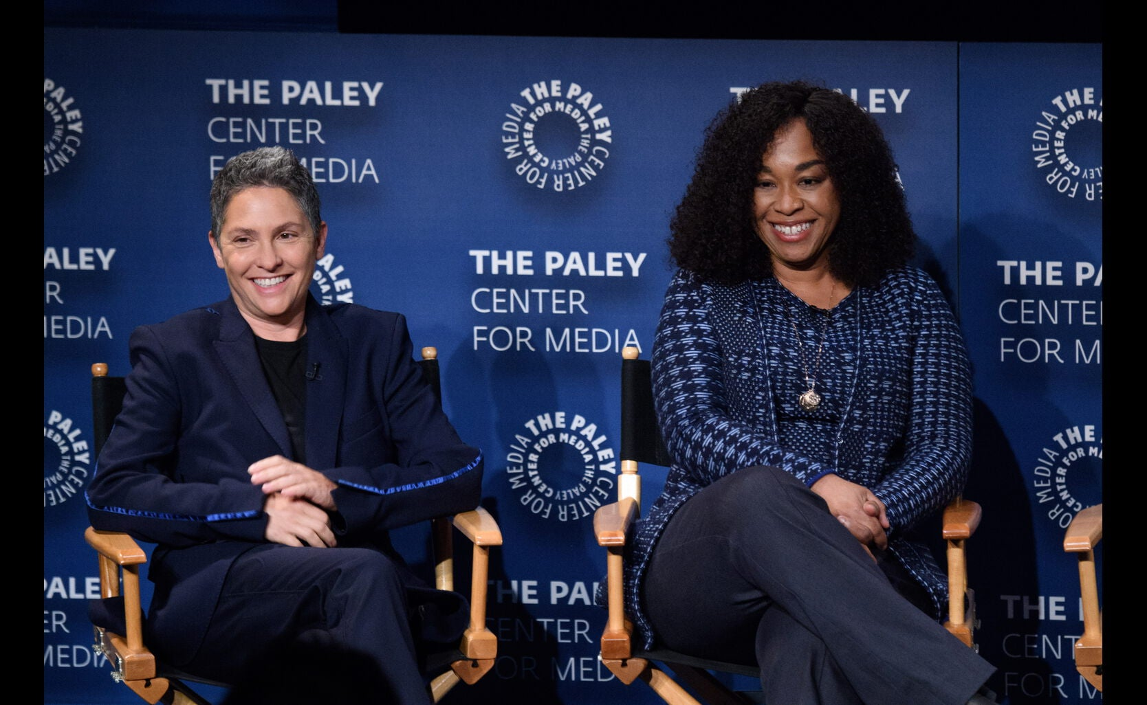 Writer-Producers Jill Soloway and Shonda Rhimes at the Game Changers Panel, Paley Center, October 2017