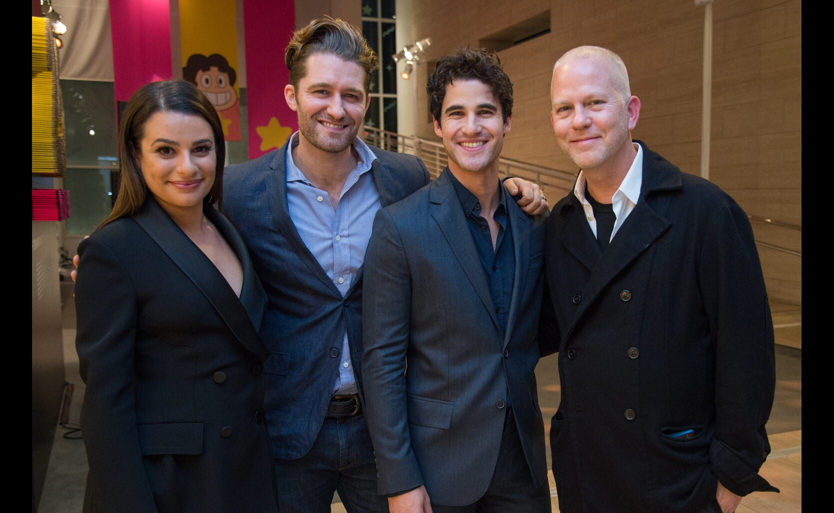 Cast of Glee and Ryan Murphy  at the Game Changers Panel, Paley Center, October 2017
