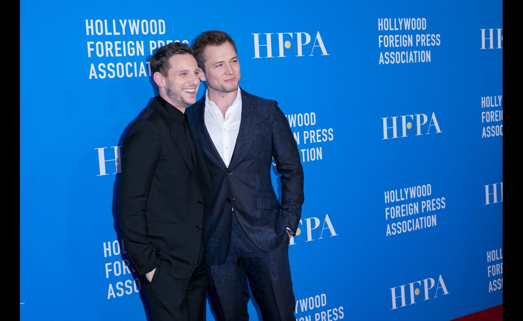 Actors Jamie Bell and Taron Egerton