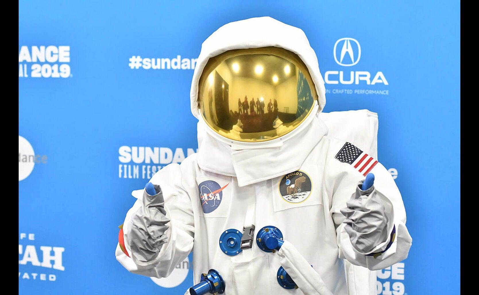 A special guest at the Apollo 11 premiere, Sundance2019