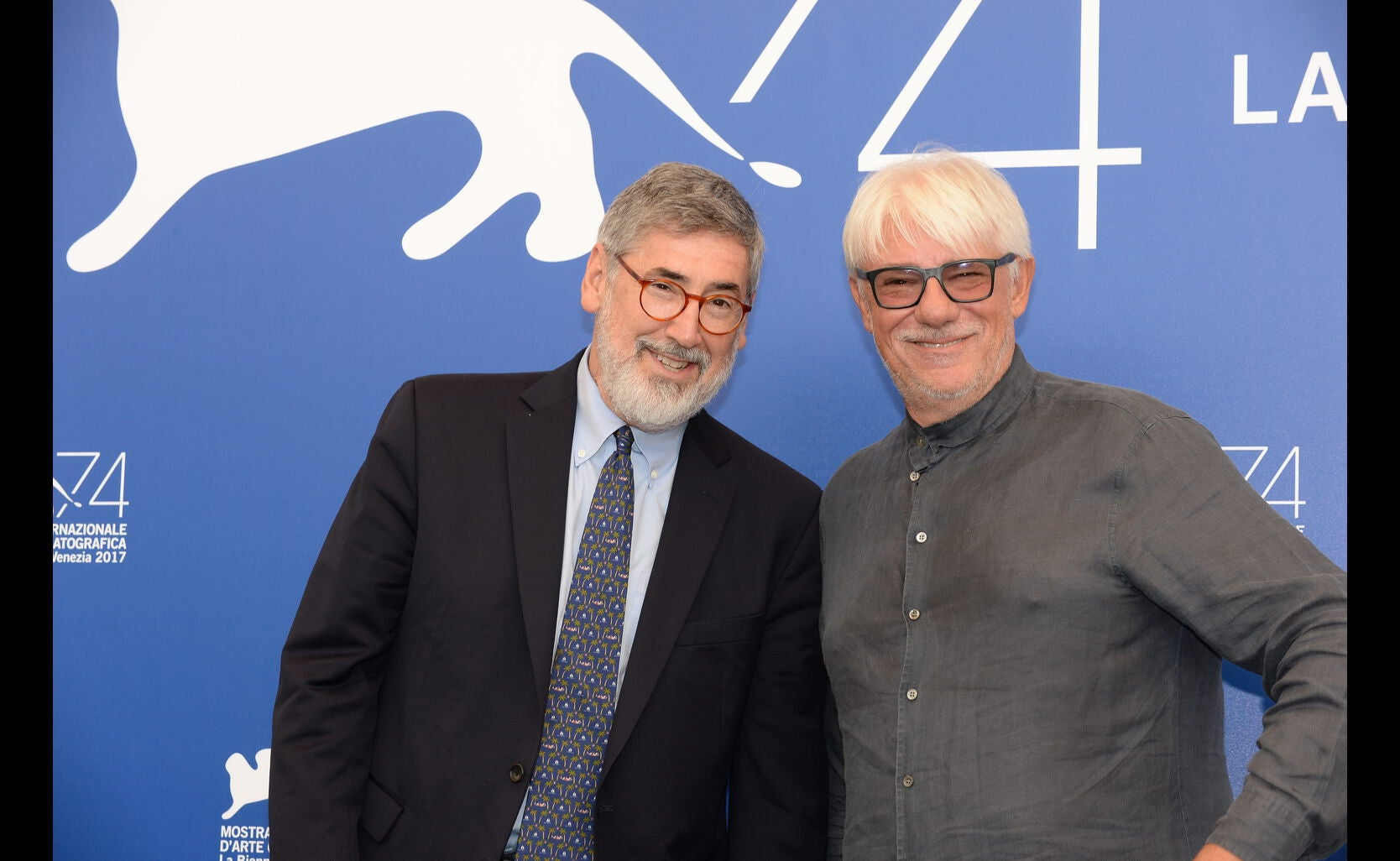 Directors John Landis and Ricky Tognazzi, jury memebr at the 2017 Venice Film Festival