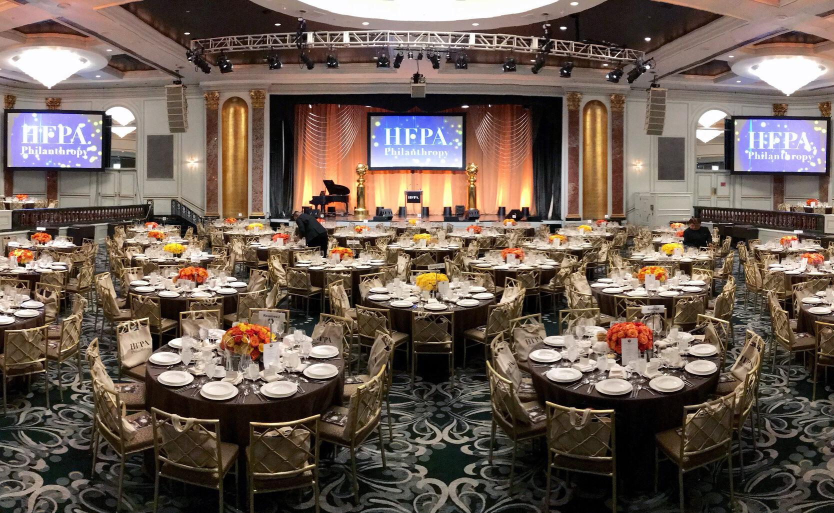 The ballroom for teh 2019 Grants Banquet