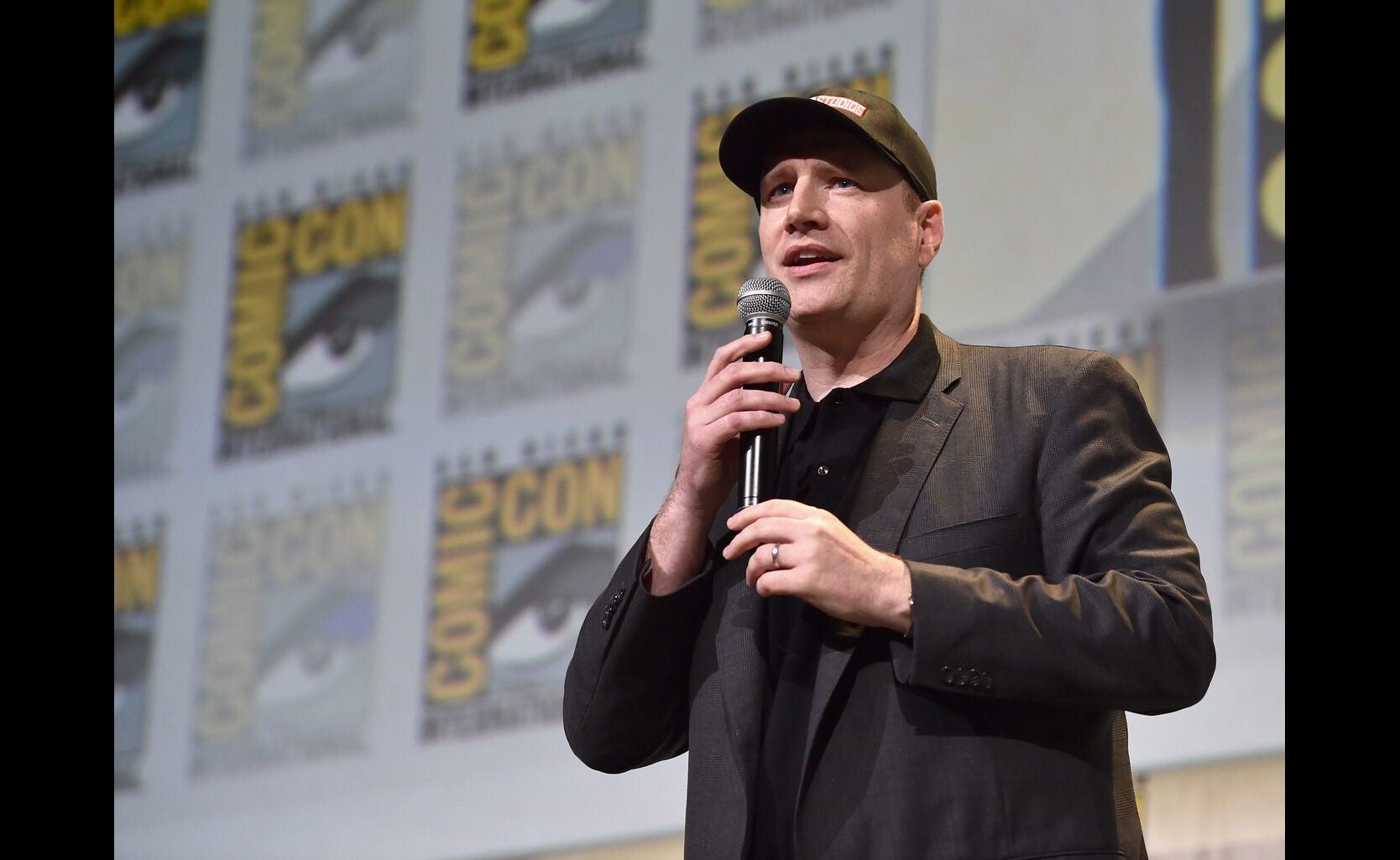 Marvel Studios CEO Kevin Feige at the Marvel Studios presentation. Comic-Con 2016
