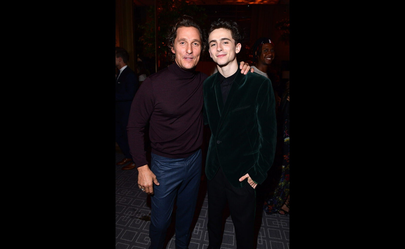 Matthew McConaughey and Timothee Chalamet