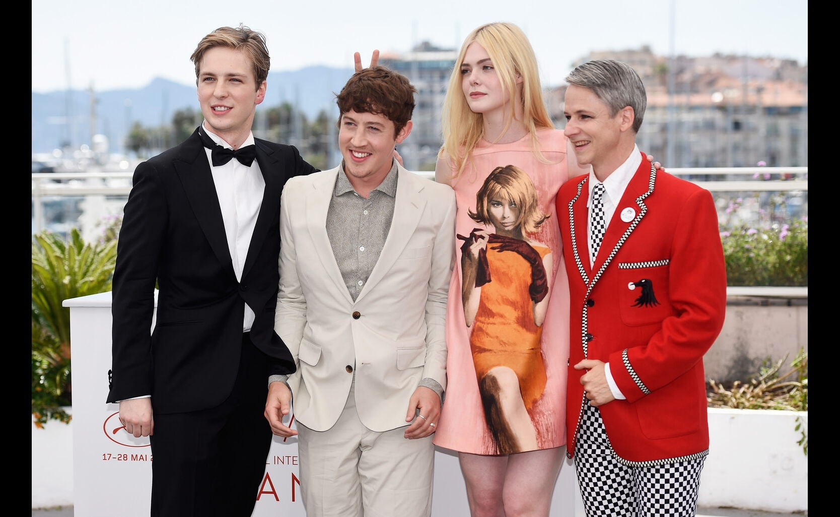 A.J. Lewis, Alex Sharp, Elle Fanning and director John Cameron Mitchell