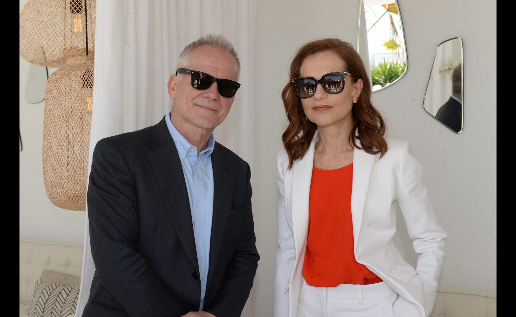 Cannes Film Festival director Thierry Frema and Isabelle Huppert