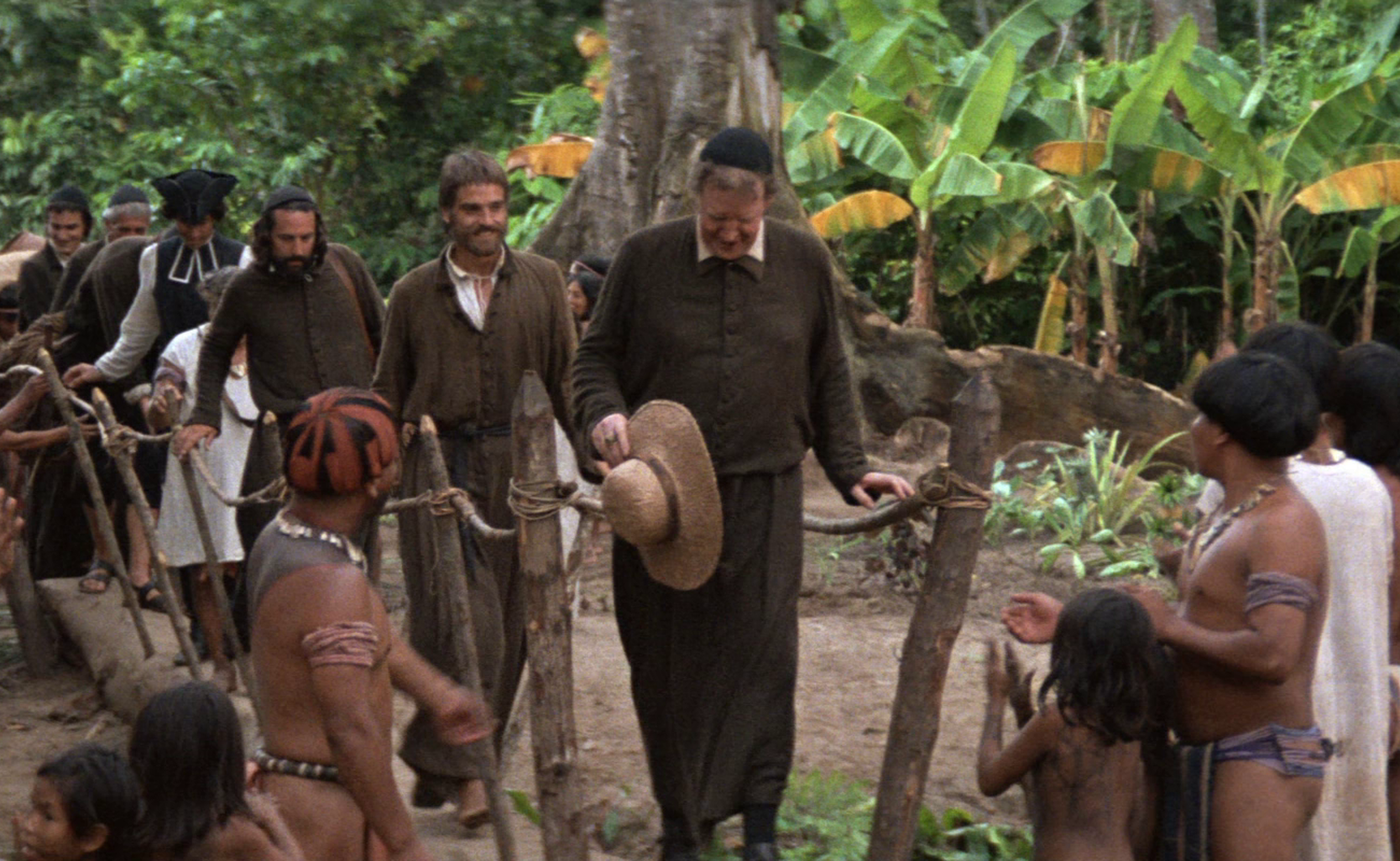 "A scene from the film ""The Mission"""