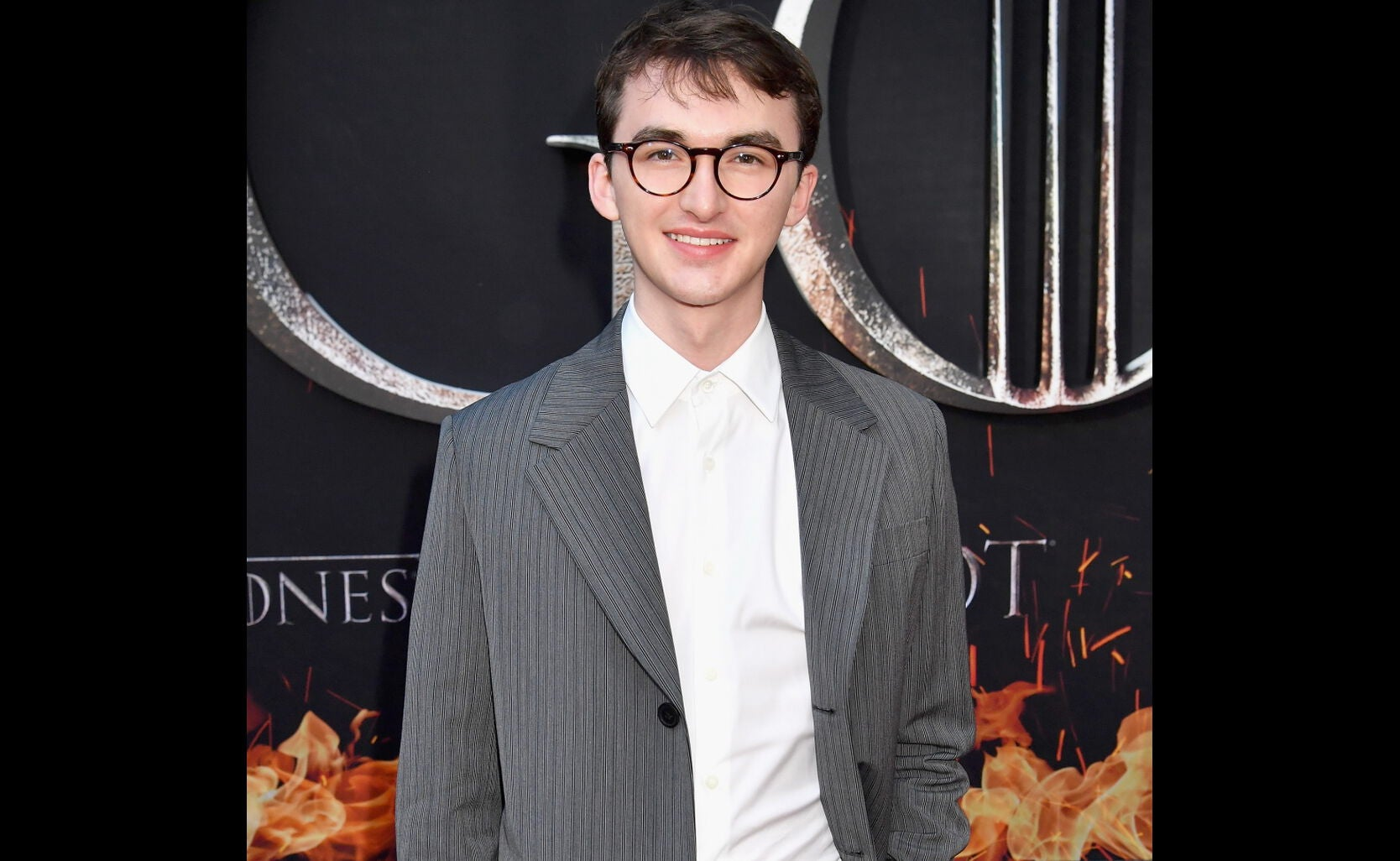 Isaac Hampstead-Wright at the premiere of Game of Thrones season 8, 2019