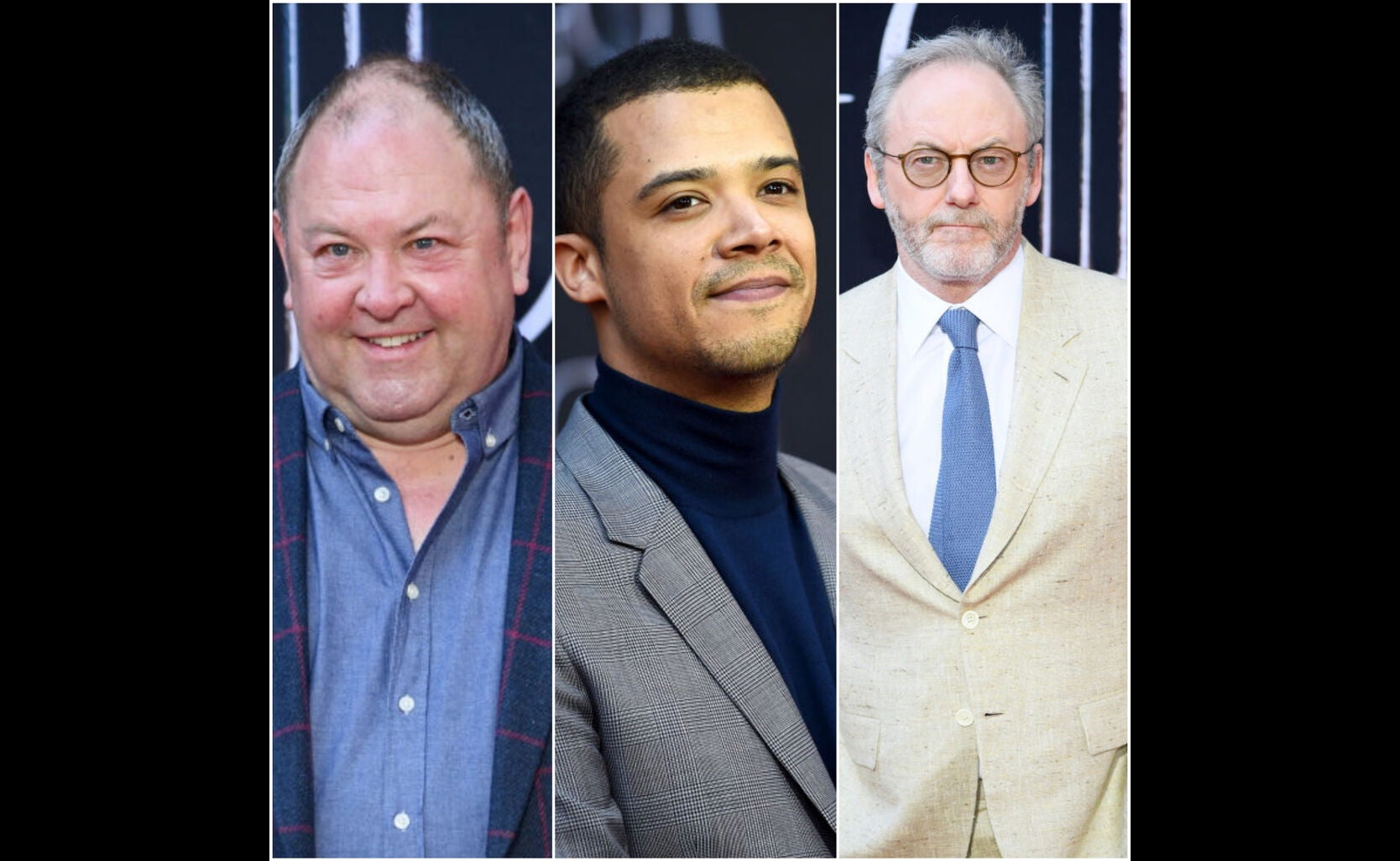 Mark Addy, Jacob Anderson, and Liam Cunningham