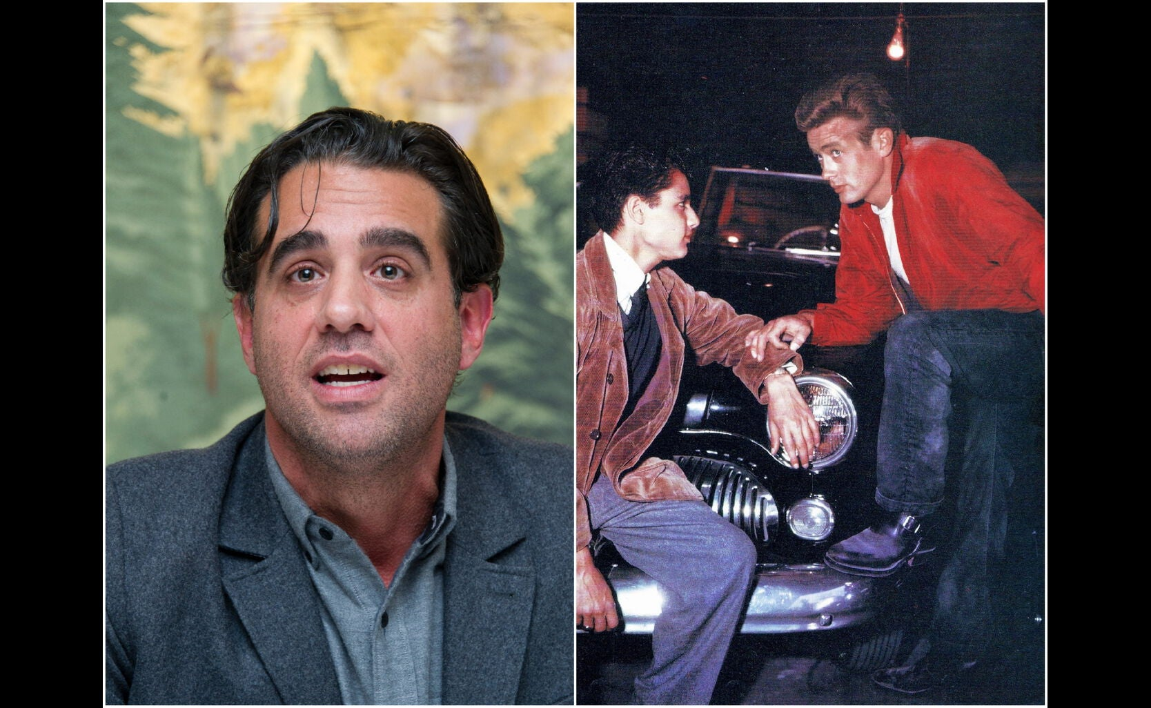 """Bobby Cannavale and a scene from """"Rebel Without a Cause"""""""
