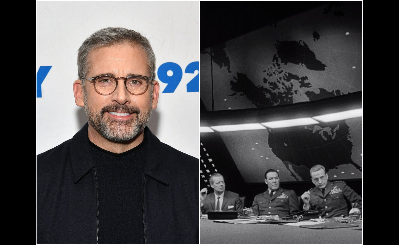 """Steve Carell and a scene from """"Dr. Strangelove"""""""