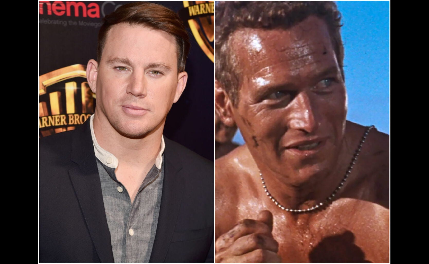 """Channing tatum and a scene from """"Cool Hand Luke"""""""
