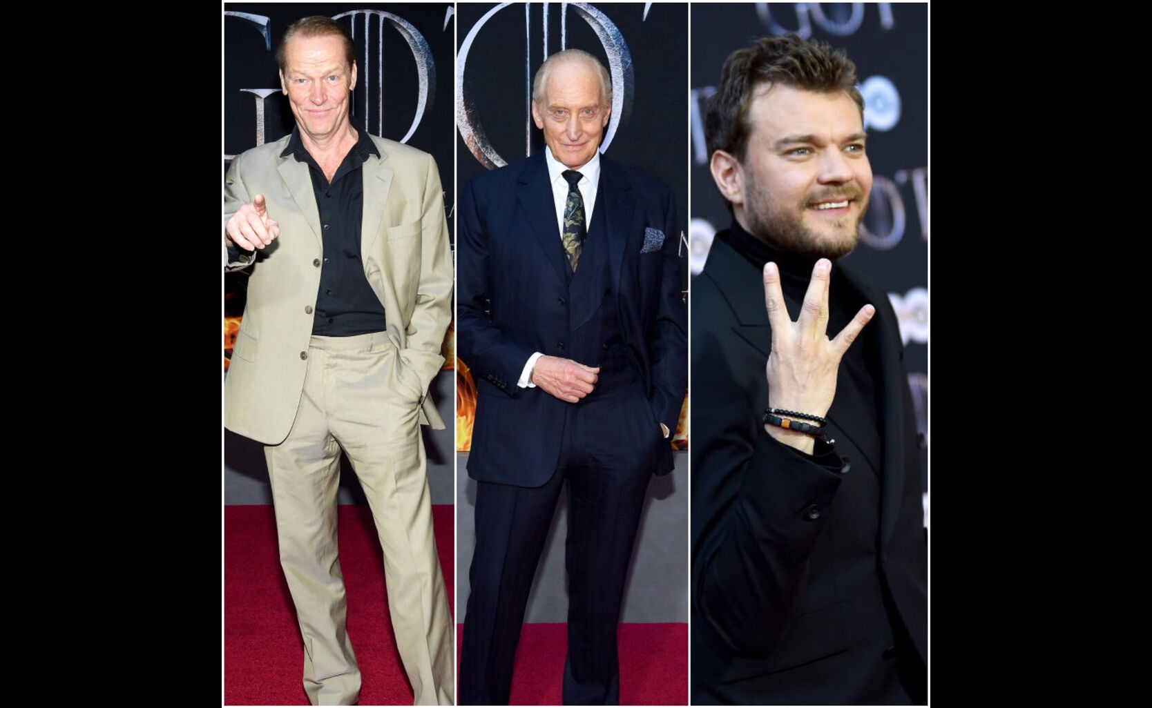 Iain Glen, Charles Dance, Pilou Asbæk at the premiere of s8 of Game of Thrones