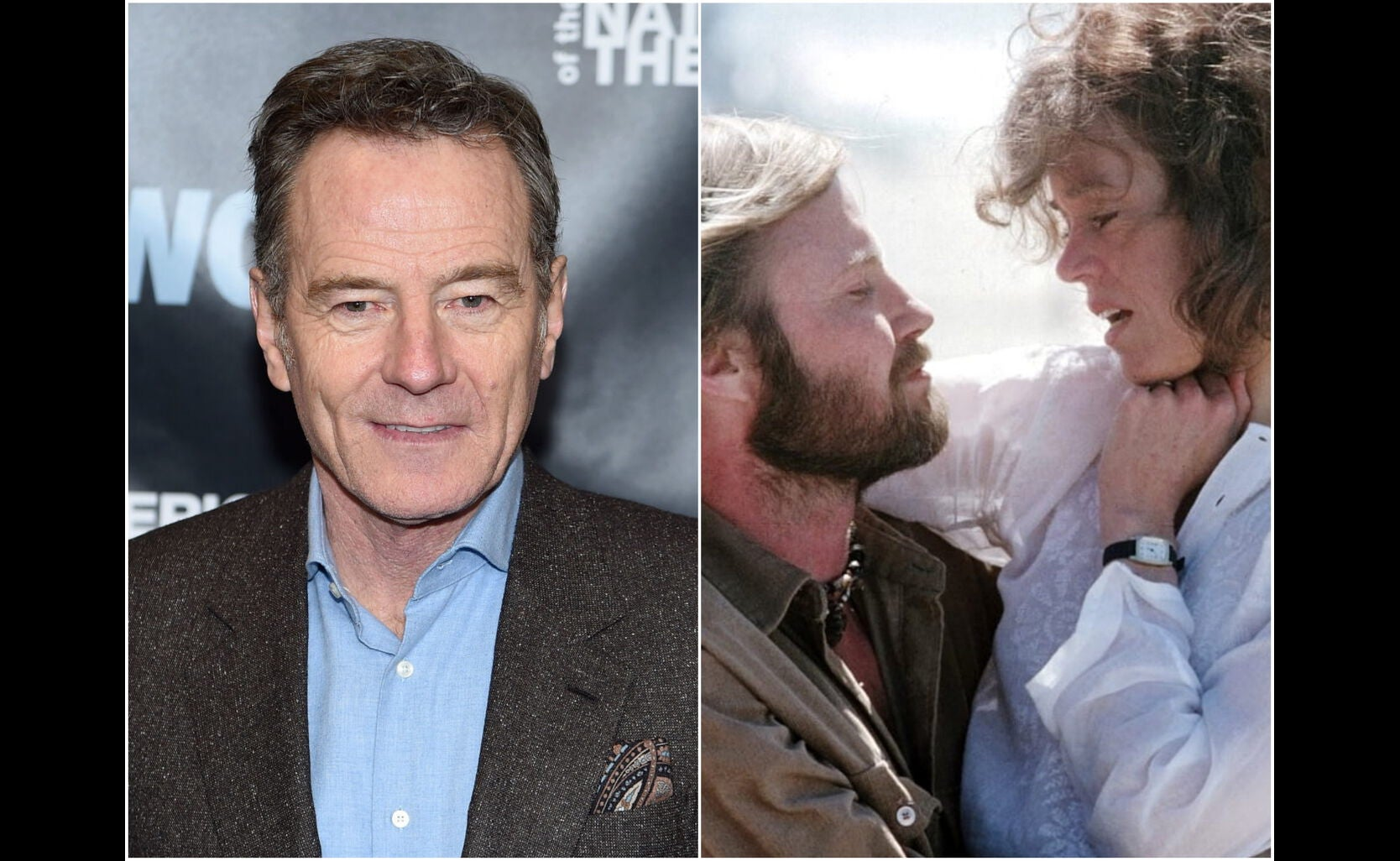 "Brian Cranston and a scene from ""Coming Home"""