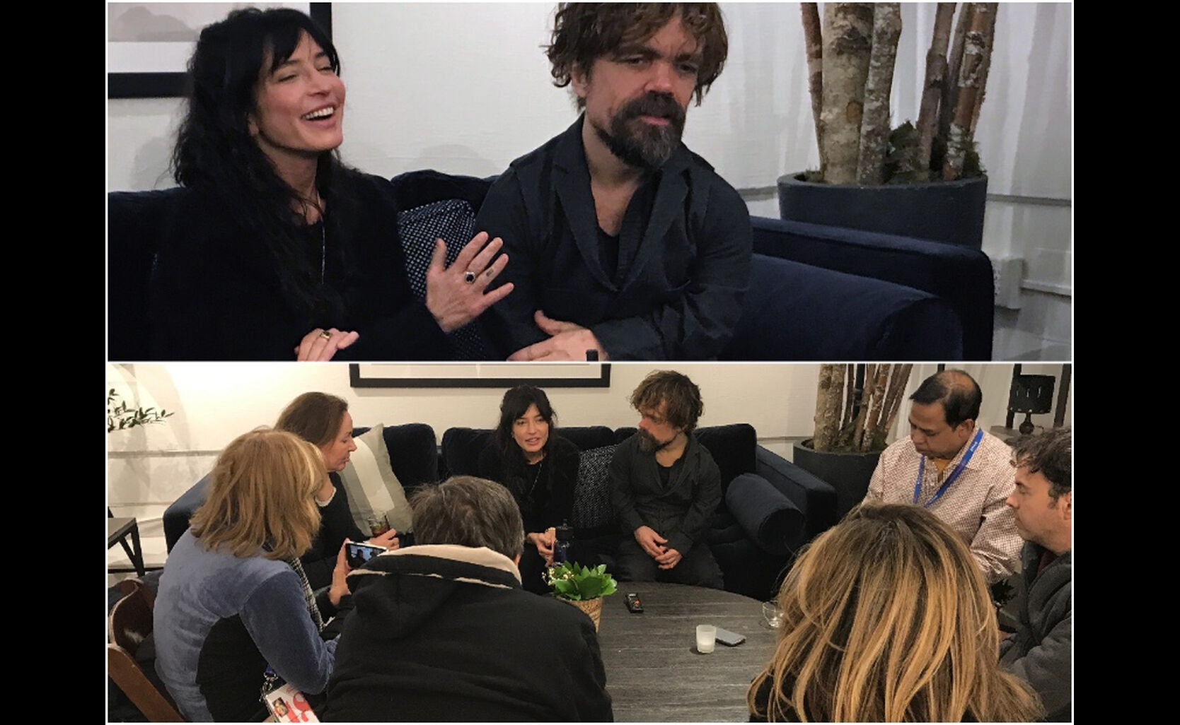 Reed Morano and Peter Dinklage in Sundance 2018