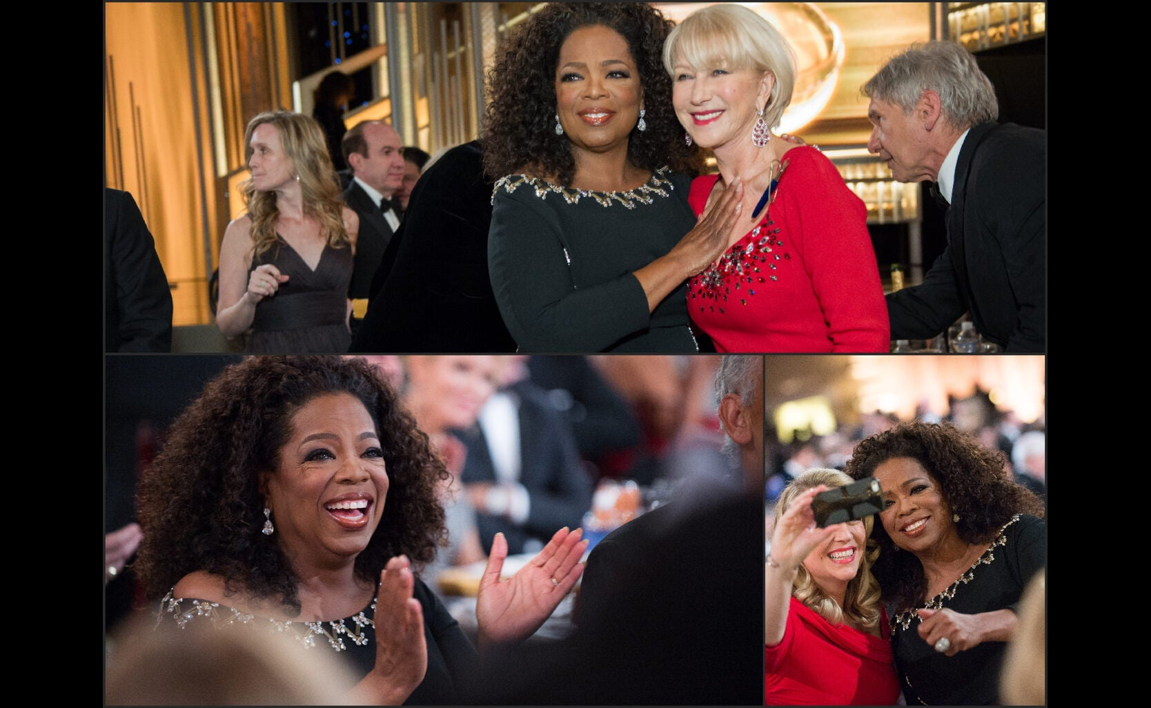 Oprah at the 2015 Golden Globe Awards