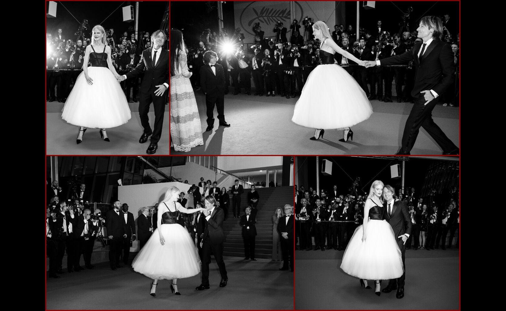 Golden Globe winner Nicole Kidman and husband Keith Urban in Cannes 2017