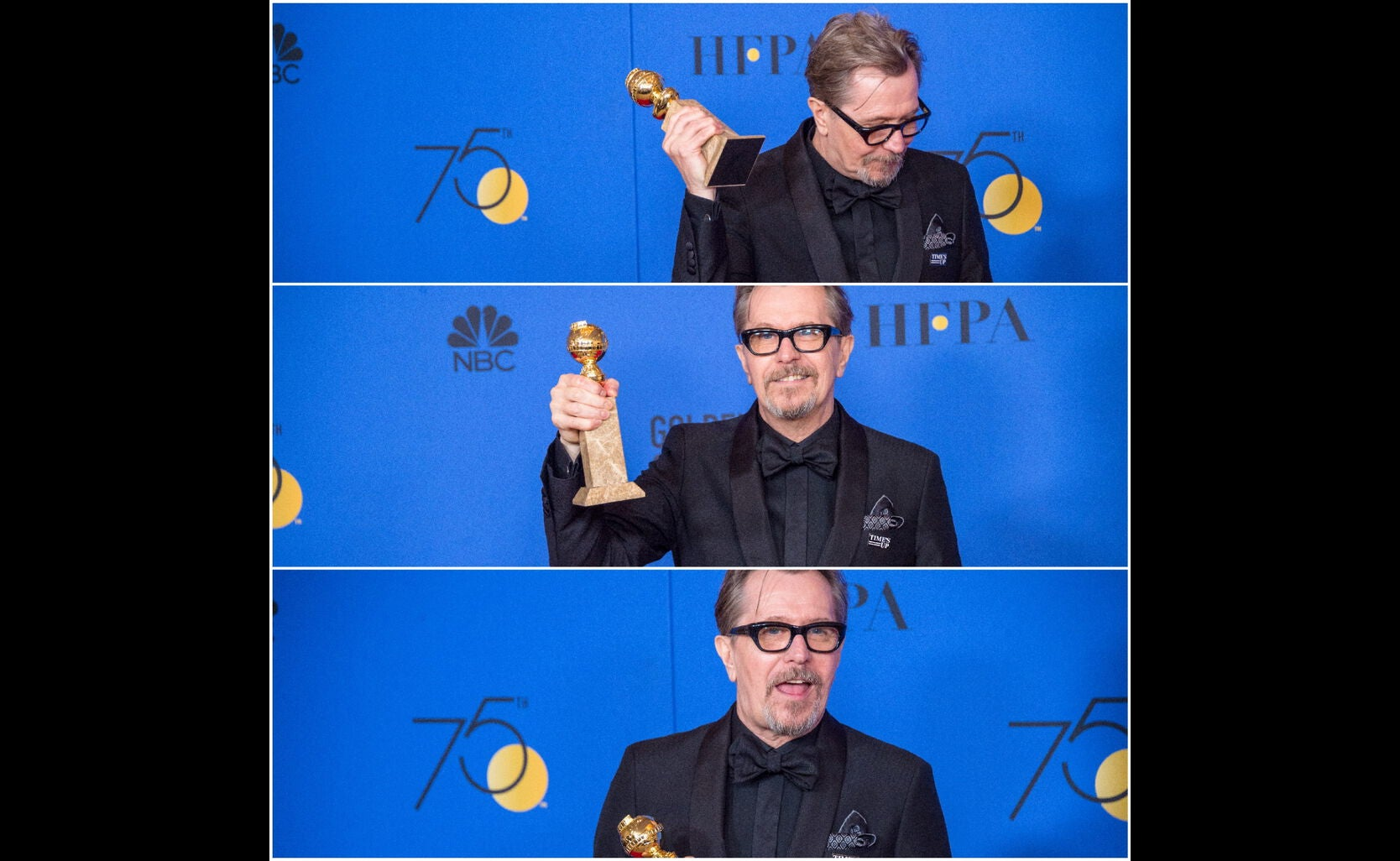 Actor Gary Oldman, Golden Globe winner