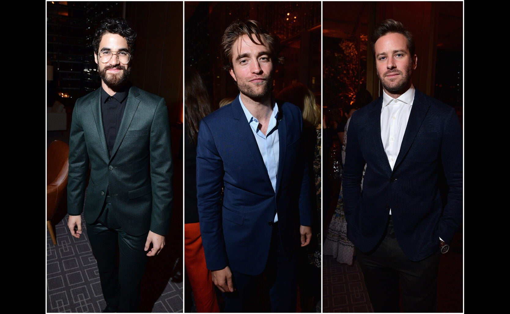 Darren Criss, Robert Pattinson , Armie Hammer
