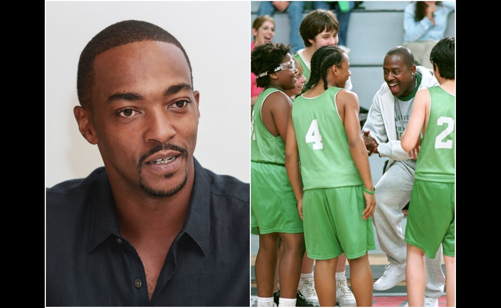 """Actor Anthony Mackie and scene from """"Rebound"""", 2005"""