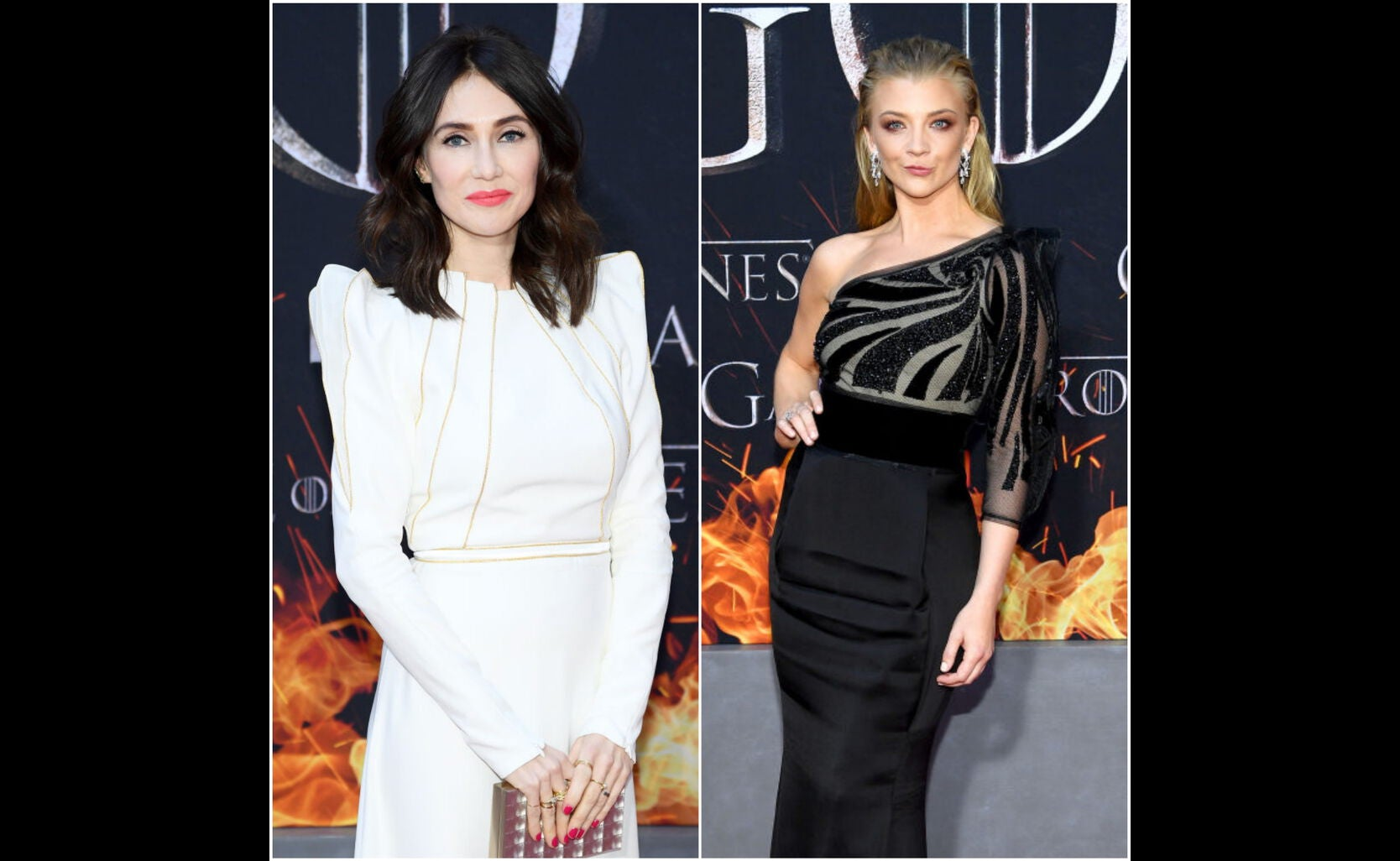 Carice van Houten and Natalie Dormer at the premiere of Game of Thrones s 8
