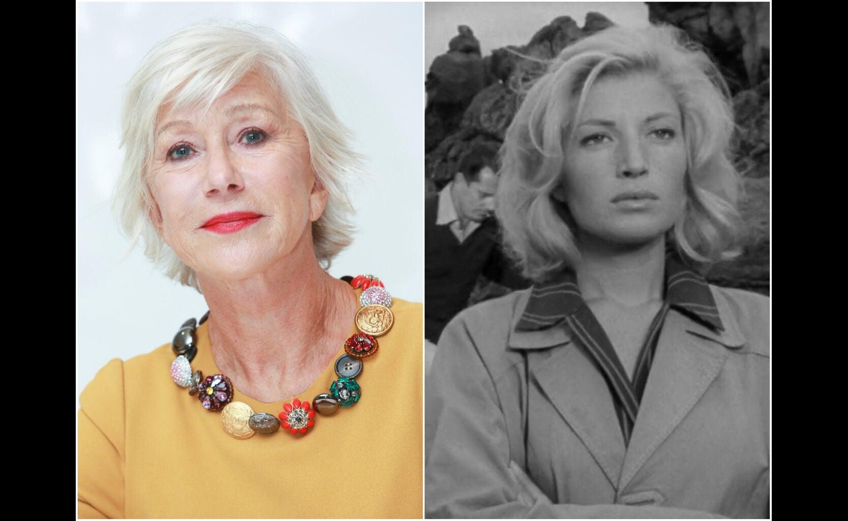 Helen Mirren and a scene from L'Avventura