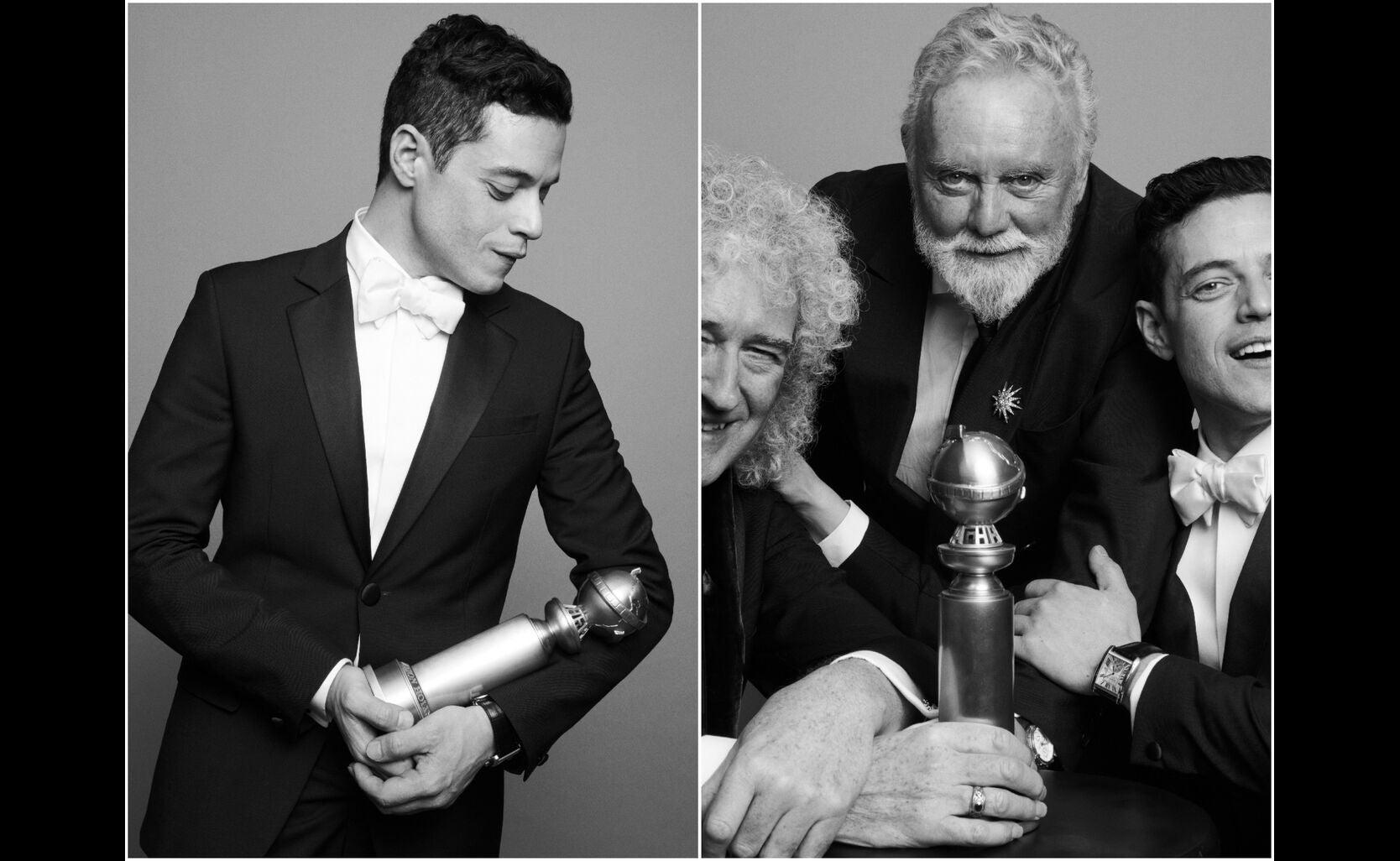 Rami Malek, Brian May, Roger Taylor