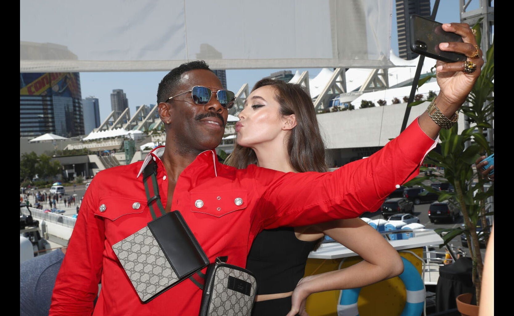 Actors Colman Domingo and Alycia Debnam-Carey at Comic-Con 2018