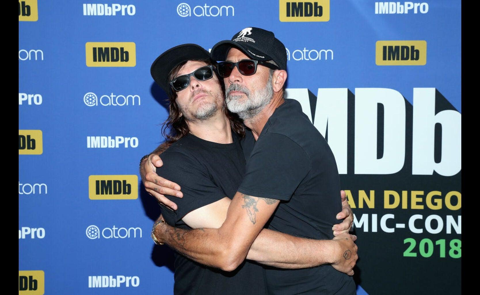 Actors Norman Reedus and Jeffrey Dean Morgan at Comic-Con 2018